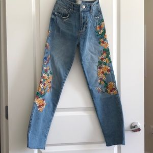 Free people embroidered denim
